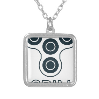 Fidget Spinner Spin Silver Plated Necklace