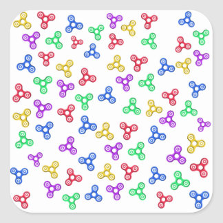 Fidget Spinners Square Sticker
