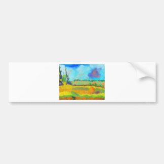 Field Art, After Pissarro Bumper Sticker