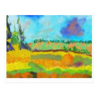 Field Art, After Pissarro Postcard