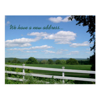 Field Fence Rural Living New Address Postcard