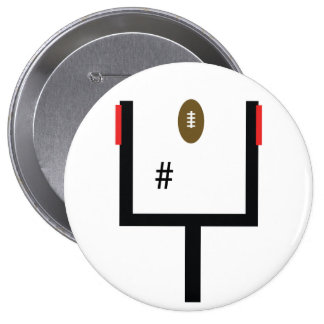 Field Goal Kicker Button - add your number!