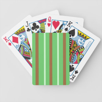 Field Green Stripes Bicycle Playing Cards