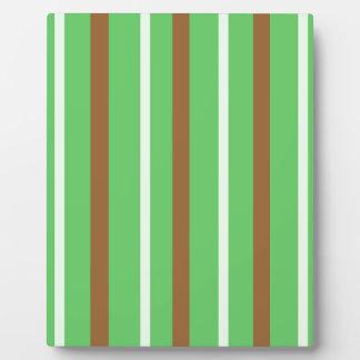 Field Green Stripes Plaque