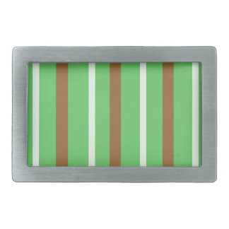 Field Green Stripes Rectangular Belt Buckle