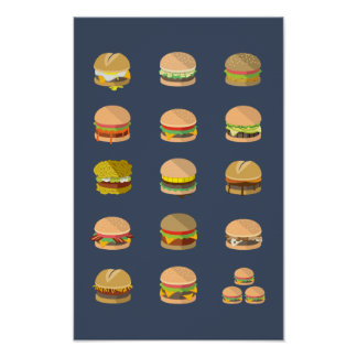"""Field Guide to Burgers - Poster 11"""" x 17"""""""