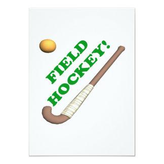 Field Hockey 2 13 Cm X 18 Cm Invitation Card
