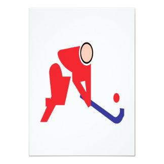 Field Hockey 5 13 Cm X 18 Cm Invitation Card