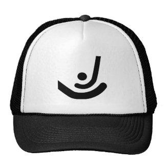 Field Hockey  Black sticks & ball Logo Trucker Hats