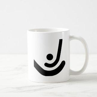 Field Hockey  Black sticks & ball Logo Mug