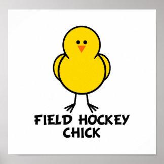 Field Hockey Chick Print