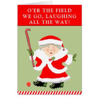 Field Hockey Christmas Card