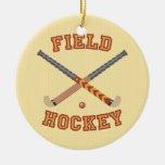 Field Hockey Christmas Tree Ornament