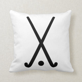 Field hockey clubs ball throw pillows