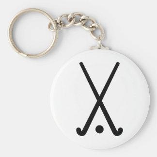 Field hockey clubs ball key chain