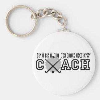 Field Hockey Coach Basic Round Button Key Ring