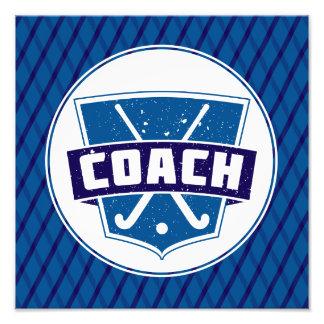 Field Hockey Coach Shield Photo Print