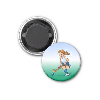 Field  hockey girl magnet