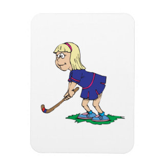 Field Hockey Girl Player 2 Rectangular Photo Magnet