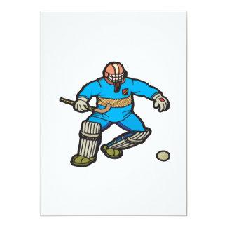 Field Hockey Goalie 13 Cm X 18 Cm Invitation Card