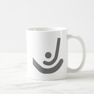 Field Hockey  Gray sticks & ball Logo Coffee Mugs