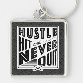 Field Hockey Hustle, Hit And Never Quit Keyring