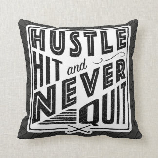 Field Hockey Hustle Hit Name & Number Pillow