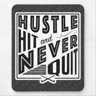 Field Hockey Hustle Hit & Never Quit Mousemat