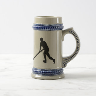 Field Hockey Male Silhouette Beer Stein