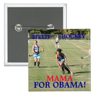 Field Hockey Mama...Button 15 Cm Square Badge