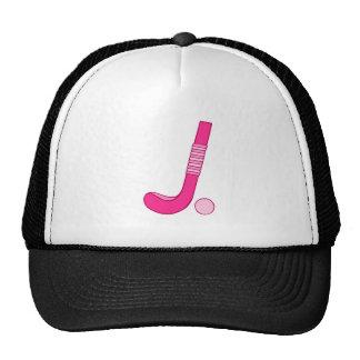 Field Hockey Pink ball stick Trucker Hats