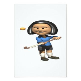 Field Hockey Player 2 13 Cm X 18 Cm Invitation Card