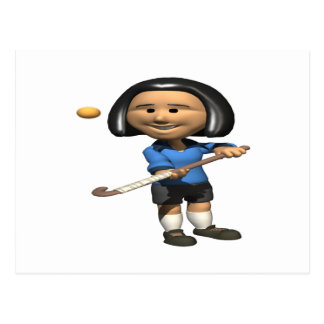 Field Hockey Player 2 Postcard