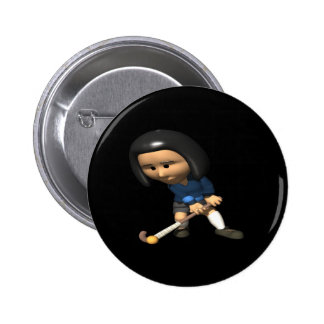 Field Hockey Player 3 6 Cm Round Badge
