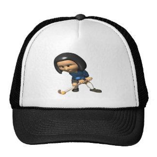 Field Hockey Player 3 Trucker Hat