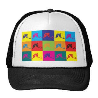 Field Hockey Pop Art Hat