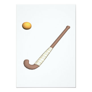 Field Hockey Stick & Ball 13 Cm X 18 Cm Invitation Card