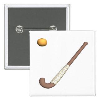 Field Hockey Stick Ball Button