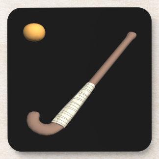 Field Hockey Stick & Ball Drink Coasters