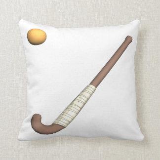Field Hockey Stick & Ball Throw Pillow