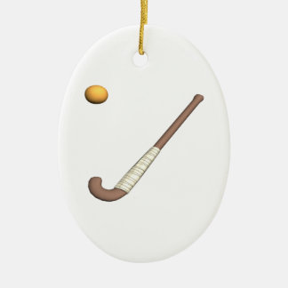 Field Hockey Stick & Ball Christmas Ornaments