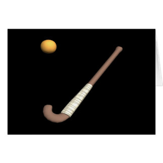 Field Hockey Stick & Ball Greeting Card