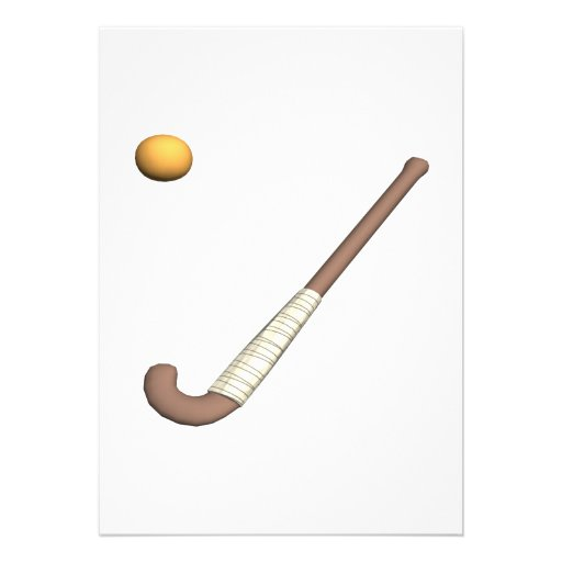 Field Hockey Stick & Ball Personalized Announcements