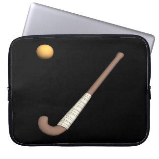 Field Hockey Stick & Ball Laptop Computer Sleeves