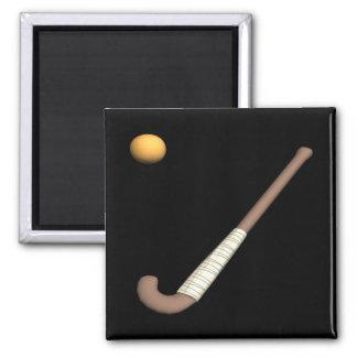 Field Hockey Stick & Ball Fridge Magnets
