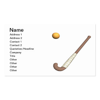 Field Hockey Stick & Ball Pack Of Standard Business Cards