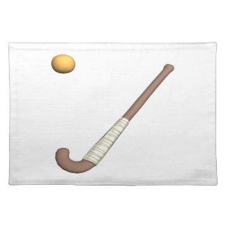 Field Hockey Stick & Ball Place Mat
