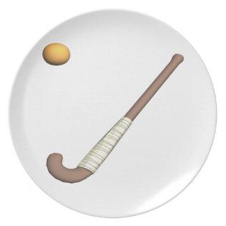 Field Hockey Stick & Ball Party Plates