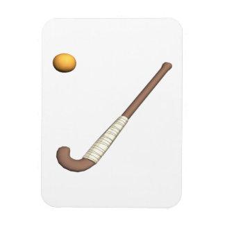 Field Hockey Stick & Ball Rectangular Magnet