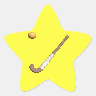 Field Hockey Stick & Ball Star Sticker